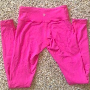 Lululemon Hot/Light Pink reversible Leggings